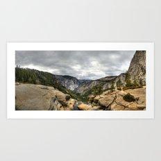 Nevada Falls Art Print