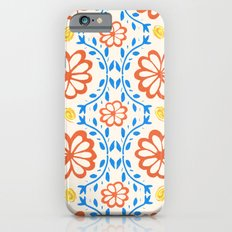 Orange Flower Pattern iPhone 6s Slim Case