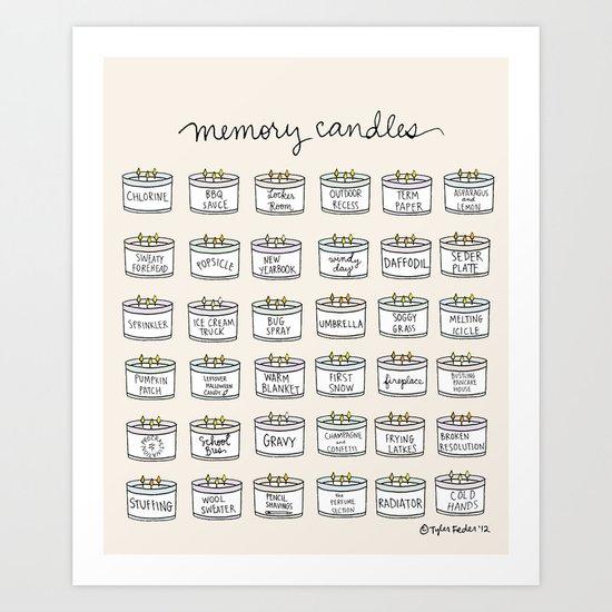 Memory Candles Art Print