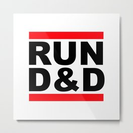 run D&D Metal Print