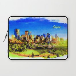 City Skyline Of Calgary, Canada Laptop Sleeve