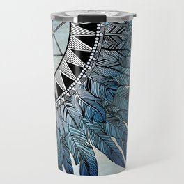 blue feather dreamcatcher Travel Mug