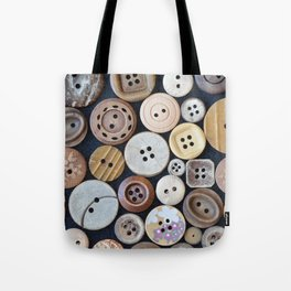 Wooden Buttons Tote Bag