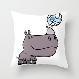 Volleyball Gift Sports Team Funny Throw Pillow