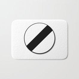 Derestriction Traffic Sign Bath Mat