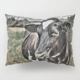 Melancholic Black White Dutch Cow Pillow Sham