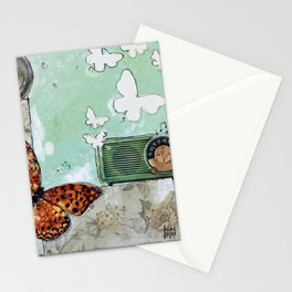 Grandpa's Radio - madewithunicorndust by Natasha Dahdaleh Stationery Cards