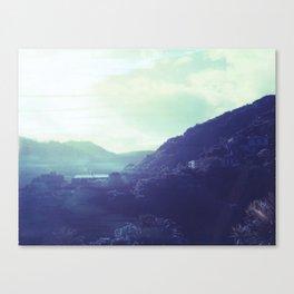 Kitekite Falls Polaroid Canvas Print