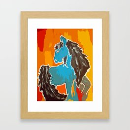 Southwest; horse Framed Art Print