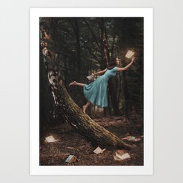 Enchanted Books Art Print