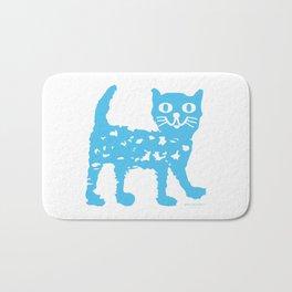 Blue cat Bath Mat