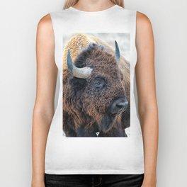 OLena Art Bison the Mighty Beast - Bison das mächtige Tier North American Wildlife Biker Tank