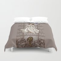 hallion Duvet Covers featuring Leia's Corruptible Mortal State by Karen Hallion Illustrations