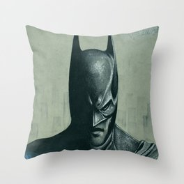 Caped Crusader  Throw Pillow