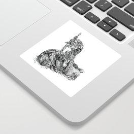 Inktober 2018: Whale Sticker