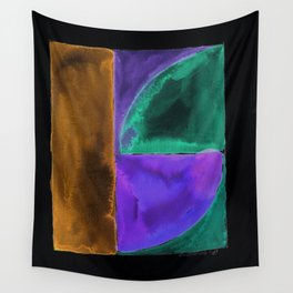 180818 Inverted Geometrical Watercolour 1| Colorful Abstract | Modern Watercolor Art Wall Tapestry