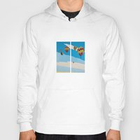 hot air balloons Hoodies featuring Hot Air Balloons by Shelley Chandelier