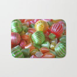 Multi-Colored Striped Candy Bath Mat