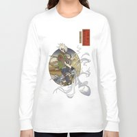 kakashi Long Sleeve T-shirts featuring Woodblock Kakashi by Sempaiko