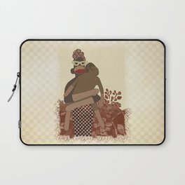 Sock Monkey Mother and Child Laptop Sleeve