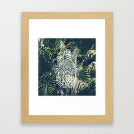 PALM x2 – HAMSA Framed Art Print