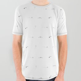 Architecture Drafting Signs All Over Graphic Tee