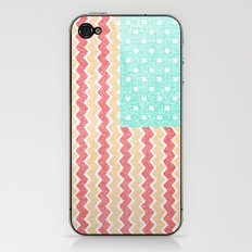 Zig Zag Flag. iPhone & iPod Skin