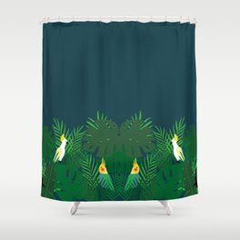Tropical blue Shower Curtain