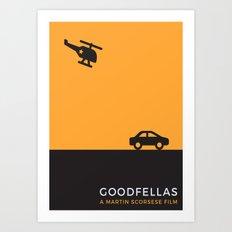 Goodfellas Minimalist poster Art Print