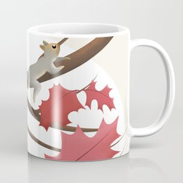 Autumn, squirrels and red leaves Coffee Mug