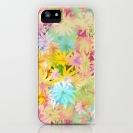 A bed of flowers. iPhone Case