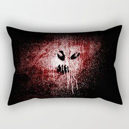 Space face Red white Rectangular Pillow