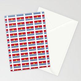 flag of kiribati - Gilbertese,I-Kiribati,Gilberts,Kingsmills,pacific,Tarawa Stationery Cards