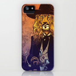 Low down, no good, Lion Cheetah iPhone Case
