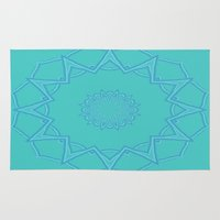 coasters Area & Throw Rugs featuring Teal Star  by Lena Photo Art