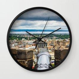 View from Edinburgh Castle, Scotland Wall Clock