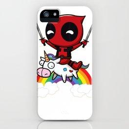 Riding a Unicorn iPhone Case