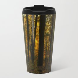 Sunset in the autumn forest Travel Mug