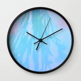 Blue Carnations Wall Clock