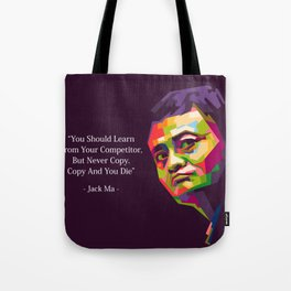 Jack Ma Quotes Tote Bag