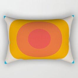 Kauai - Classic Colorful Abstract Minimal Retro 70s Style Graphic Design Rectangular Pillow