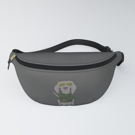Camo Weim Hunting Grey Ghost Weimaraner Dog Hand-painted Pet Drawing Fanny Pack
