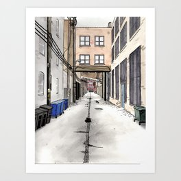 Alley in Ravenswood, Chicago Art Print