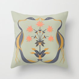 Dancing Cranes Throw Pillow