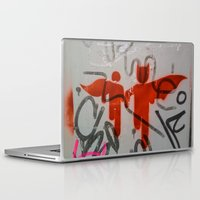 super heroes Laptop & iPad Skins featuring Super Heroes by Mauricio Santana