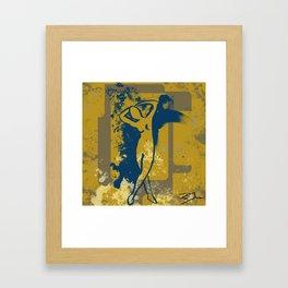 Foot Strokes Framed Art Print