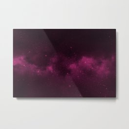 Fascinating view of the pink cosmic sky Metal Print