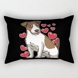 Parson Russell Terrier Dog Funny Gift Idea Rectangular Pillow