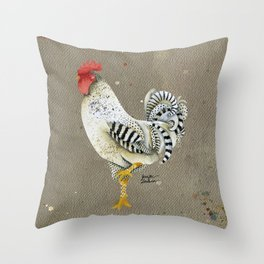 Rooster Wallace Throw Pillow