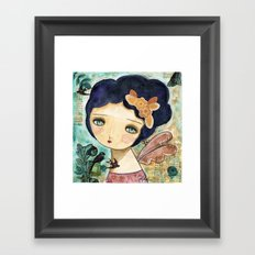 Charity Wings Watercolor Collage Framed Art Print
